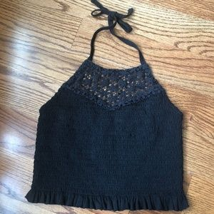 American Eagle Ruched Cropped Top